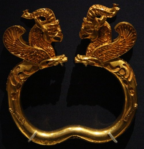Ancient imagination: Griffin armlet from 5th century BC Persia