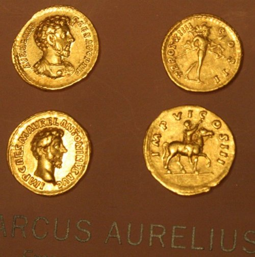 Marcus Aurelius on ancient Roman coins