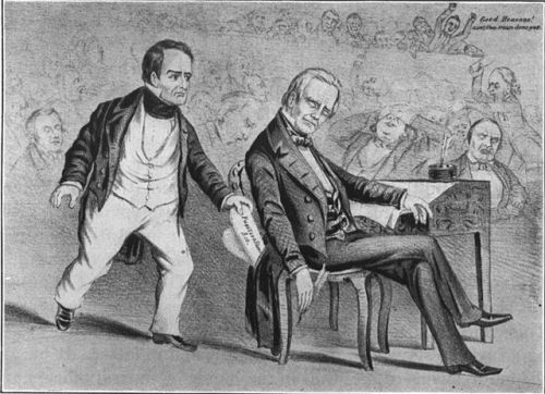 """""""Daniel Webster Stealing Henry Clay's Thunder."""" Source: Wikimedia Commons and Project Gutenberg"""