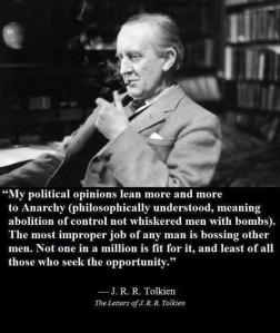 JRR Tolkien on Anarchism