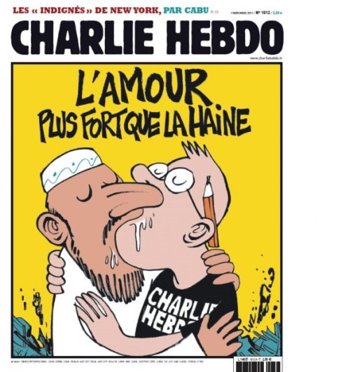 The Charlie Hebdo cover immediately after the 2011 bombing of its offices.