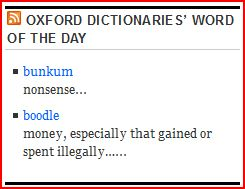 vocabulary, lexicon, bunkum, boodle