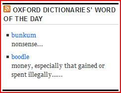 vocabulary, lexicon, bunkum, boodle