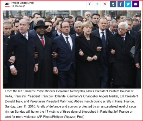 World Leaders march in solidarity following Paris attacks.