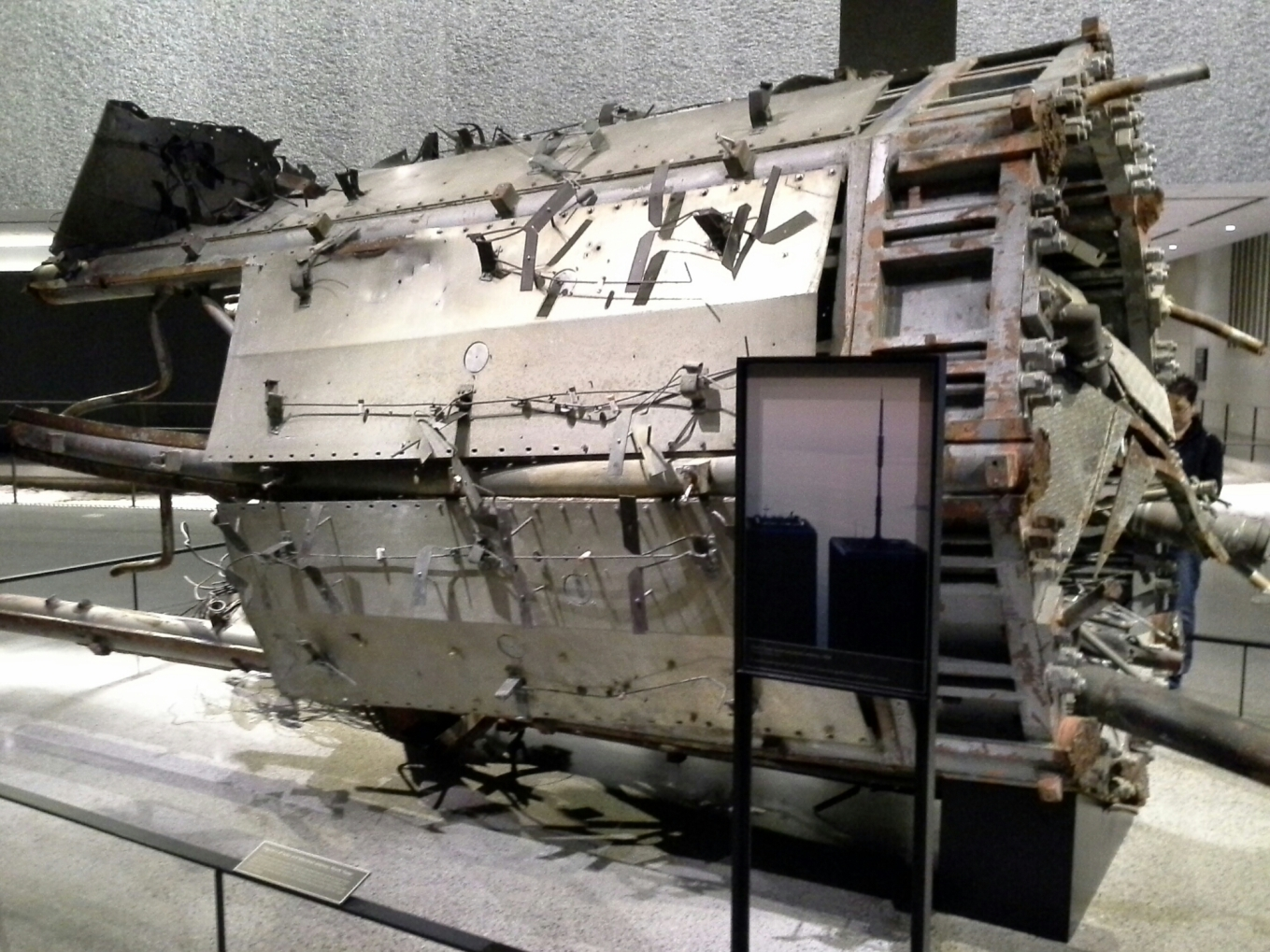 Part of the North Tower antenna at the 9-11 Museum