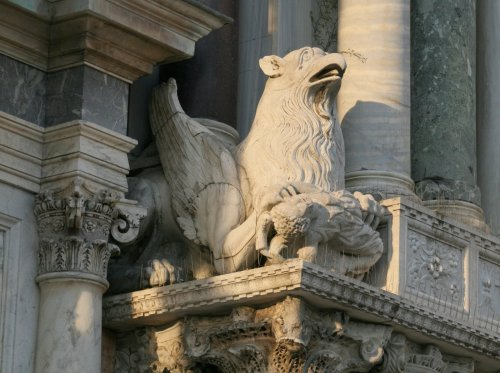 Griffin at San Marco Basilica, Venezia, Italy -- Venice